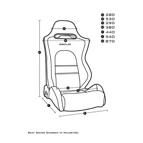 Sport Seat E8 Measurement