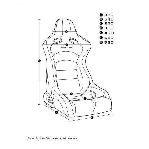 Sport Seat Viper 110 Measurement